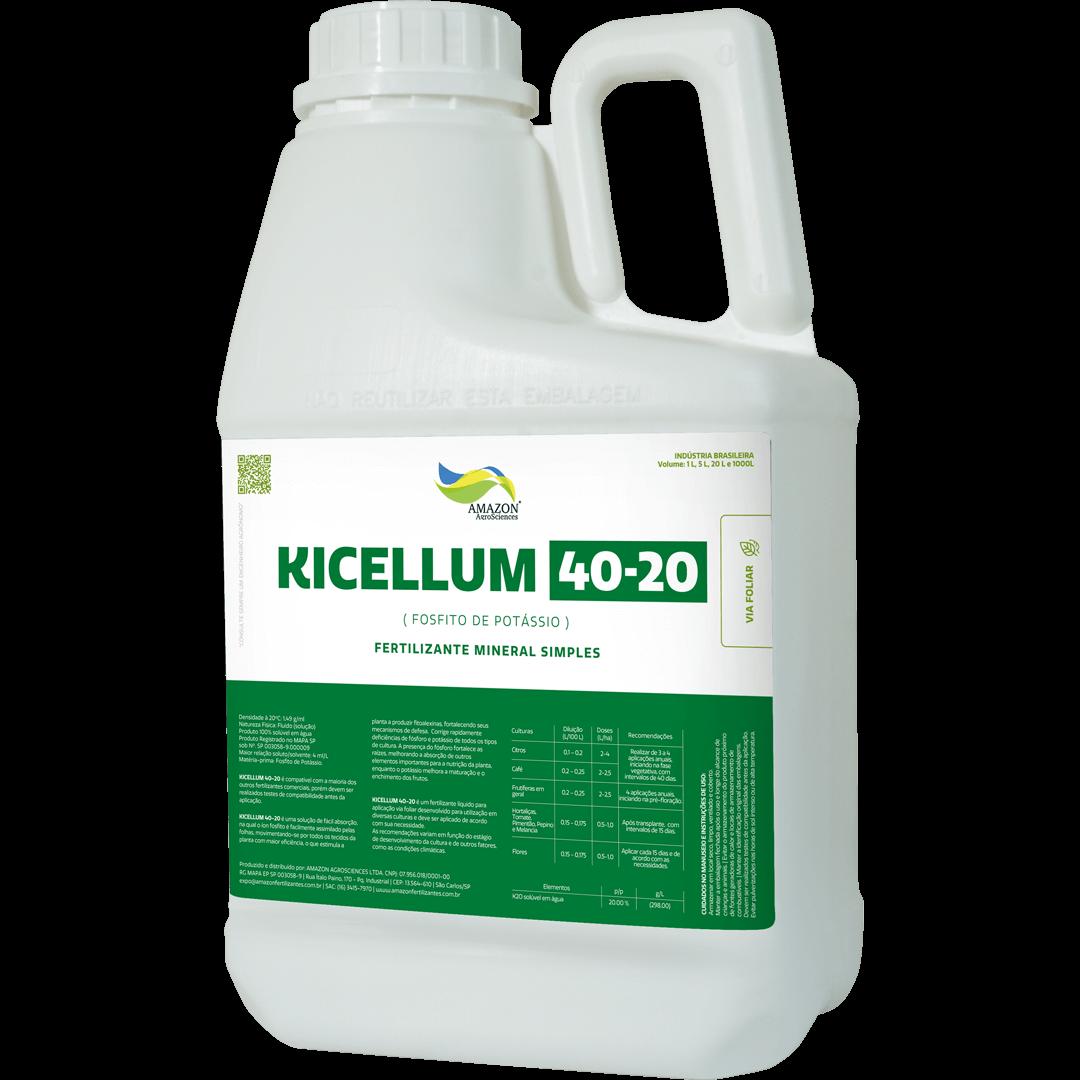 Amazon AgroSciences Fertilizantes Líquidos de Alto Desempenho Foto de Produto Kicellum 40-20
